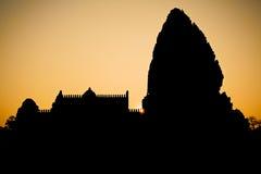 古老废墟在东北泰国 免版税库存图片