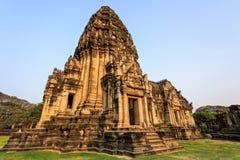 古老废墟在东北泰国 库存照片