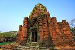 古老废墟在东北泰国 免版税图库摄影