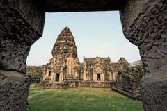 古老废墟在东北泰国 免版税库存照片