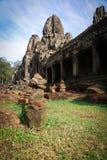 古老废墟在吴哥窟,柬埔寨 库存图片
