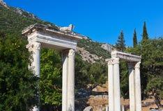 古老废墟在以弗所土耳其 库存图片