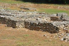 古老废墟在Dion,希腊 免版税库存图片