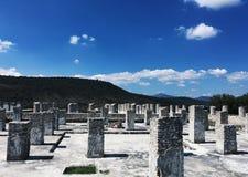 古老废墟 图拉de亚伦得,绅士,墨西哥 库存图片