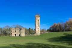 古老废墟Eglinton城堡苏格兰 库存图片