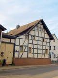 古老德国半房子用了木材建造 免版税库存照片