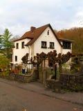 古老德国房子石头 免版税库存图片