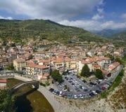 古老意大利城市Dolceaqua 库存照片