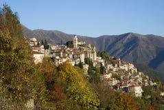 古老意大利triora村庄 免版税库存照片