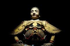 古老战士雕象 库存照片