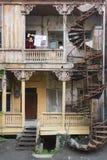 古老房子在第比利斯,乔治亚 库存图片