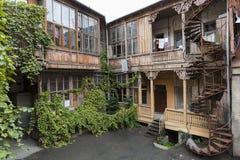古老房子在第比利斯,乔治亚 免版税库存照片