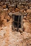 古老房子废墟在克利特,希腊 免版税库存图片