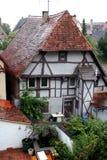 古老房子rothenburg 免版税库存照片