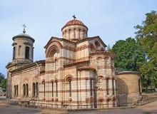 古老拜占庭式的教会克里米亚kerch乌克&#208 库存图片