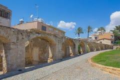 古老拱道在尼科西亚 库存图片
