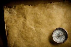 古老指南针 免版税库存照片