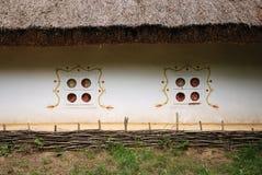 古老接近的小屋乌克兰语 库存照片