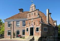古老搬运工村庄,弗拉讷克,荷兰 免版税库存照片