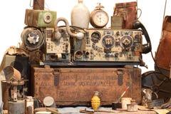 古老收音机和对象 库存照片