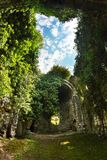 古老教会VI-VII世纪,阿布哈兹长得太大的废墟  库存图片