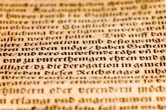 古老文件德语 免版税库存照片