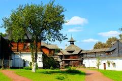 古老斯拉夫民族的堡垒在Novhorod-Siverskii 库存照片