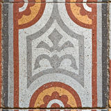 古老方形的铺的瓦片 免版税库存照片