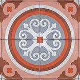 古老方形的铺的瓦片 免版税图库摄影