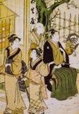 古老日本传统礼服 库存图片