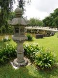 古老日本灯笼石头 库存图片