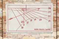 古老日规用于测量时间 免版税图库摄影