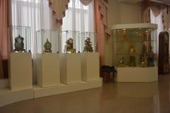 古老时钟的博物馆 免版税库存图片