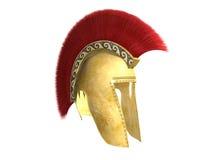 古老有顶饰希腊盔甲 免版税库存图片