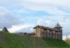 古老木城堡 免版税库存照片
