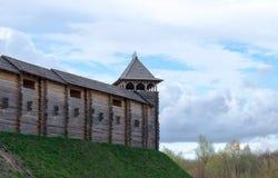 古老木城堡 免版税库存图片