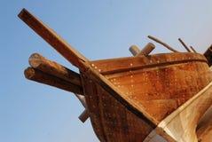 古老木小船 免版税库存图片