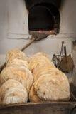 古老木烤箱 库存图片