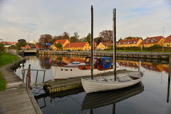 古老木船在丹麦 库存图片