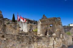 古老村庄列斯Baux de普罗旺斯 免版税图库摄影