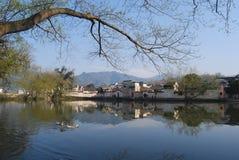 古老村庄在中国Hongcun 免版税图库摄影