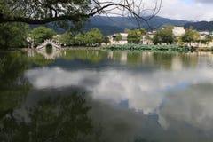 古老村庄在皖南,中国 免版税库存照片