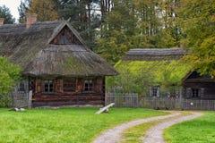 古老村庄在立陶宛 图库摄影