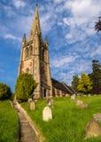 古老村庄教会,英国 库存图片