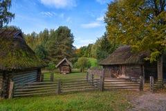 古老村庄Rumsiskes立陶宛 免版税图库摄影