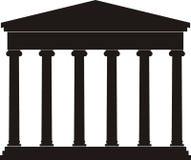 古老柱廊门廓寺庙 免版税库存照片
