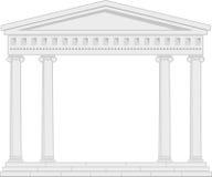 古老柱廊门廓寺庙 皇族释放例证