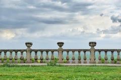 古老栏杆古老建筑学  库存照片