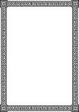 古老框架希腊河曲模式 免版税库存照片