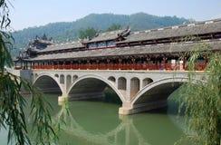 古老桥梁瓷杰ruilong城镇zi 库存图片
